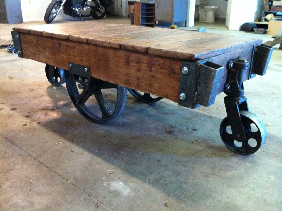DIY Industrial Cart Coffee Table Plans Wooden PDF European Woodworking